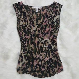 Diane Von Furstenberg Leopard Kayren Top Size S